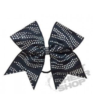 Large cheer bow with Rhinestones - Zebra design