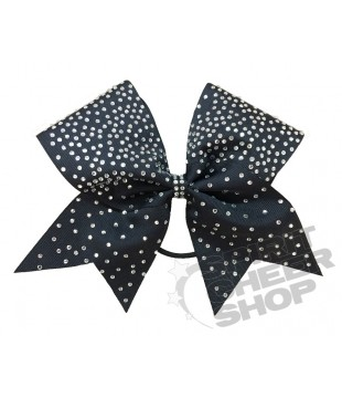 Large cheer bow with Rhinestones - ombre effect