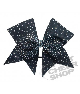 Large cheer bow with Rhinestones - ombre effect 2