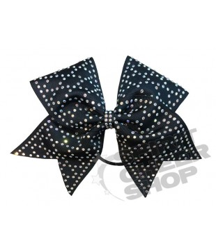 Large cheer bow with Rhinestones - Geometric pattern