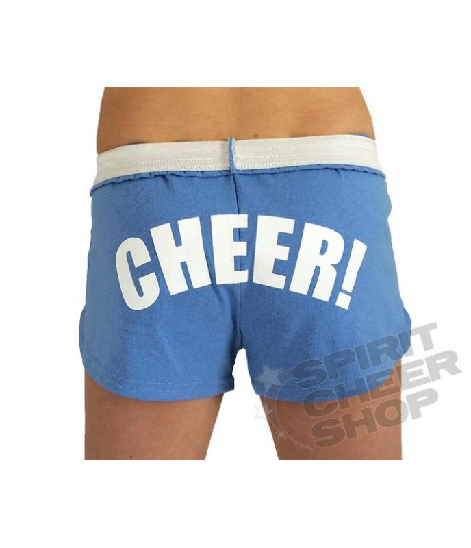 Cheer šortky dětské s potiskem CHEER na zadku - světle modrá