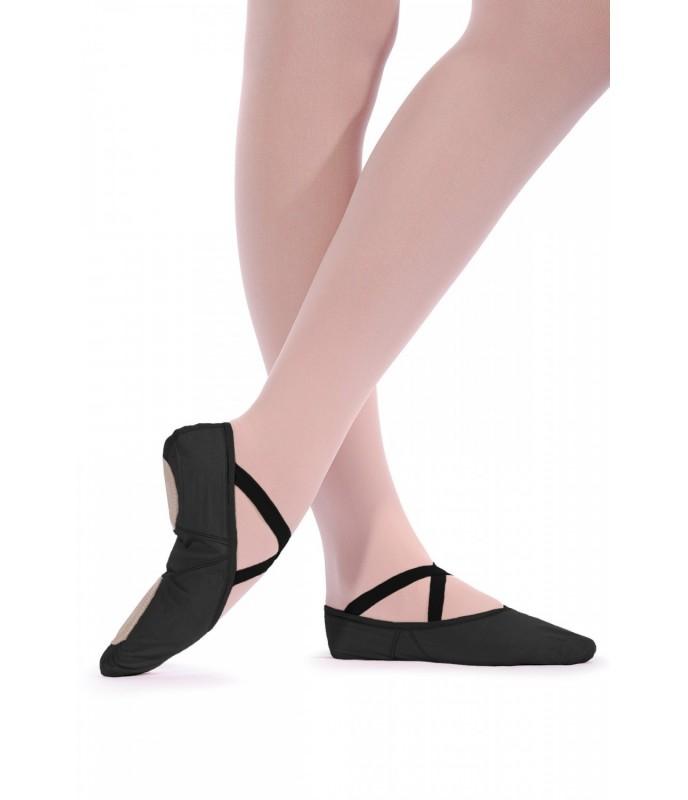 Taneční piškoty látkové strečové, černé