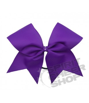 Large cheer bow with Rhinestones at the center