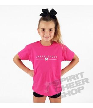 Dětské tričko Cheerleader s mašličkou růžové