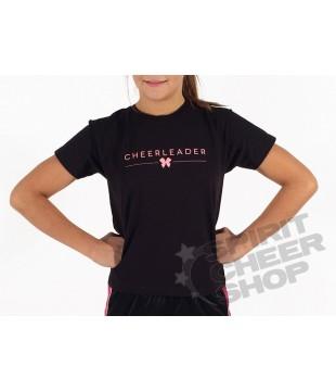 Dámské tričko cheerleader s mašličkou, černé
