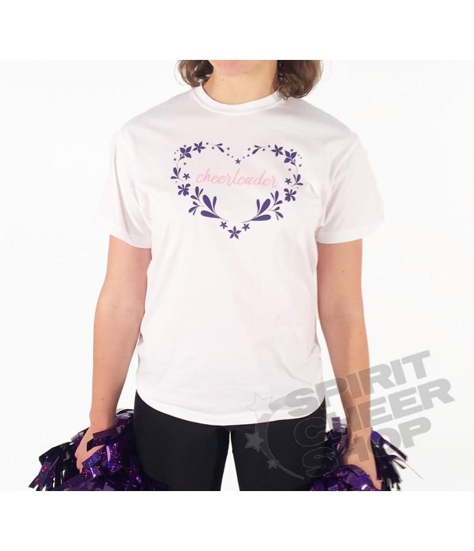 Dámské tričko cheerleader v srdíčku, bílé
