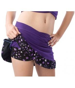 Volánková sukně/skort SuperStar dámská, fialová