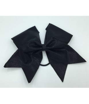 Large cheer bow - shiny black