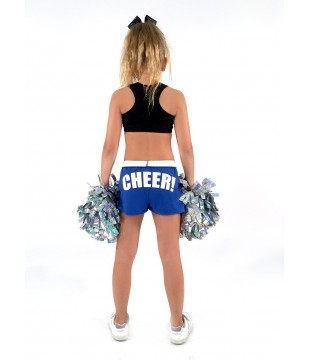 Cheer šortky dětské s potiskem CHEER na zadku - královská modrá