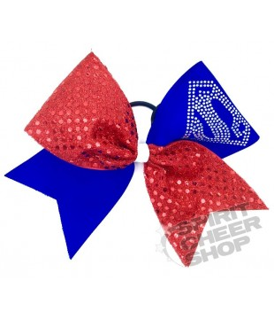 Large cheer bow Superman