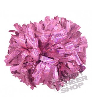 Pompoms - holographic - light pink 6""