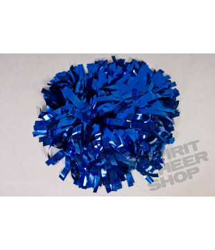 Pompoms - holographic -royal blue 10""