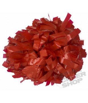 Pompoms - Wet Look - red 6""