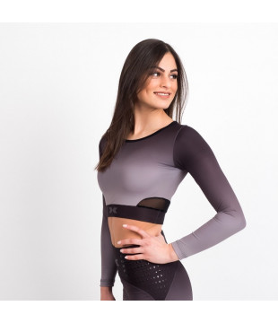 Crop Top Black Ombré