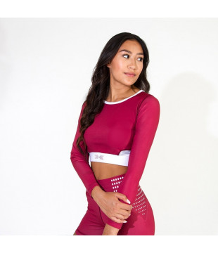 Crop Top Goji Red
