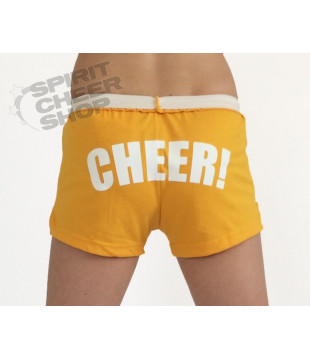 Cheer šortky dámské s potiskem CHEER žluté