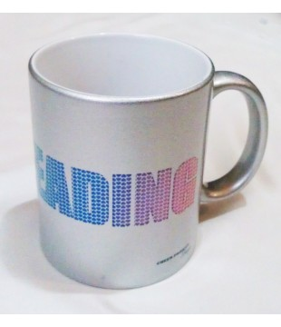 Silver CHEERLEADING mug