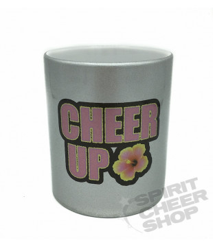 Silver CHEER UP! mug