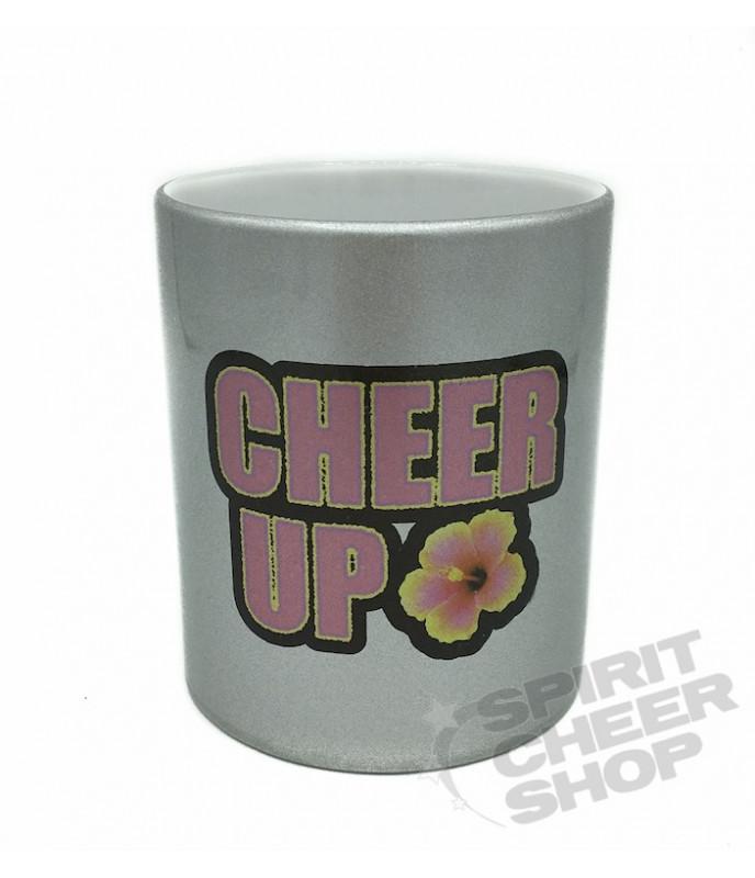 Stříbrný hrneček s nápisem CHEER UP!