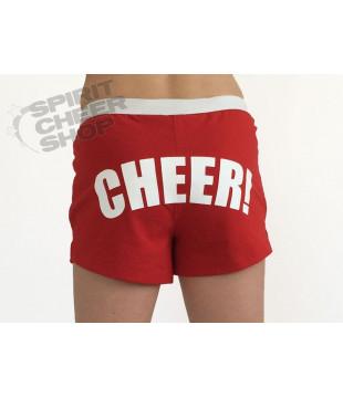Cheer šortky dámské s potiskem CHEER červené