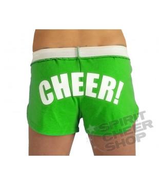 Cheer šortky dámské s potiskem CHEER neon zelená