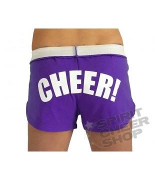 Cheer šortky dámské s potiskem CHEER fialové