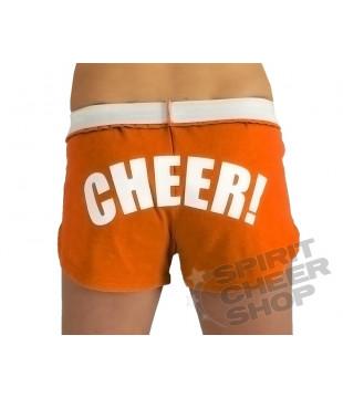 Cheer šortky dámské s potiskem CHEER oranžové