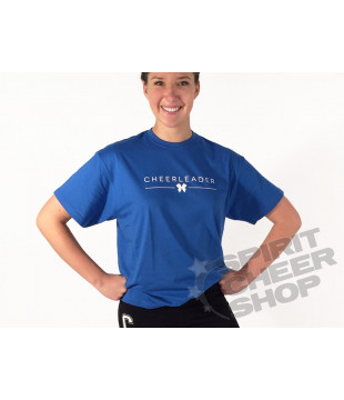 Unisex tričko Cheerleader s mašličkou, modré