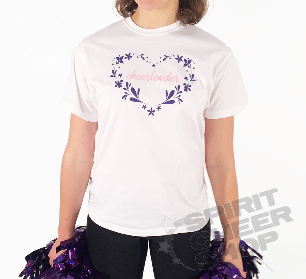 Dětské tričko cheerleader v srdíčku 848f92021d