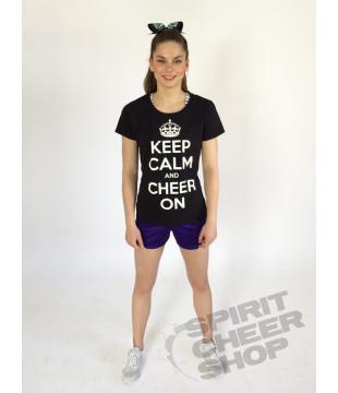 Dětské tričko KEEP CALM AND CHEER ON