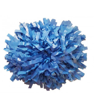 Pompoms - plastic - light blue 10""