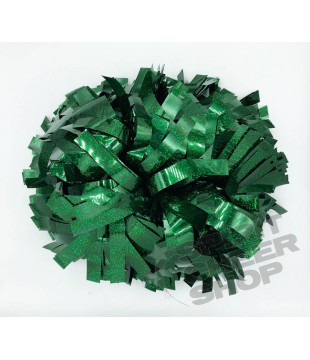 "Pompoms - holographic - dark green 6"""