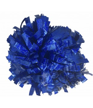 Pompoms - holographic - royal blue 6""