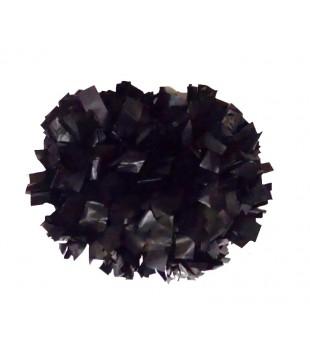 """Pompony Plastic černé 4"""""""