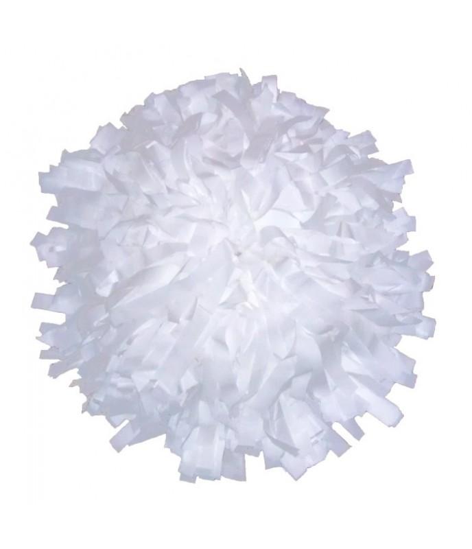 """Pompony Plastic bílé 10"""""""