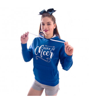 Modrá mikina Born To Cheer