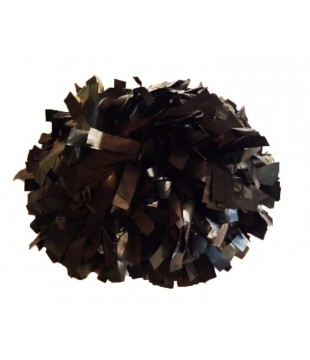 Pompoms - plastic - black 6""