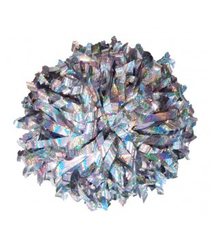 """Pompoms - holographic - silver 10"""""""
