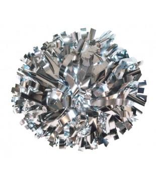 "Pompoms - metallic - silver 6"""