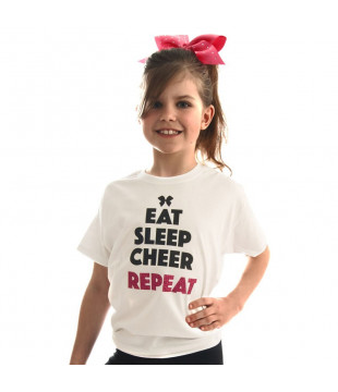 Kids T-shirt Eat Sleep Cheer Repeat