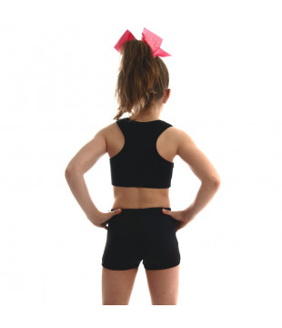 Dětská sportovní podprsenka CHEER černá