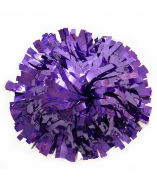 Pompoms - holographic - purple 10""