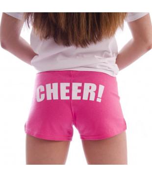 Cheer šortky dámské s potiskem CHEER růžové