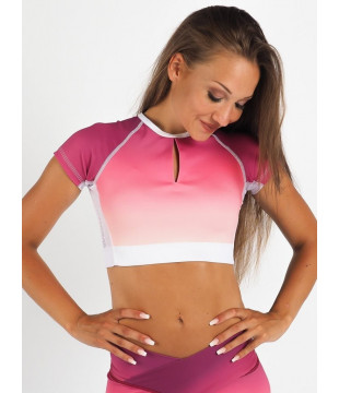 Crop Top Short Berry Flame