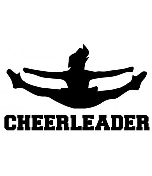 Car/multipurpose sticker - Cheerleader toetouch
