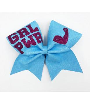 Glitter Cheer Bow GIRL POWER