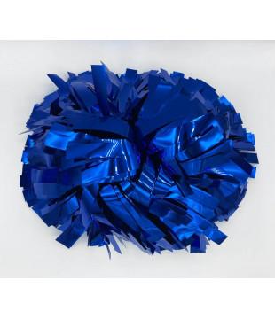 """Pompony metalické modré 6"""""""
