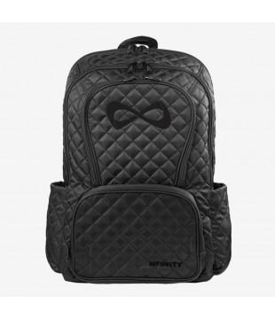Velký černý prošívaný batoh Nfinity