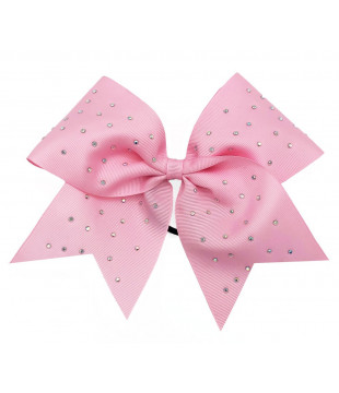 Middle cheer bow with Rhinestones