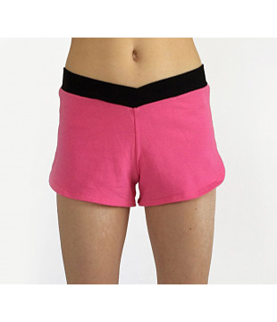 Pink shorts with black...